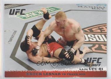 2009 Topps UFC Round 1 #81 - Brock Lesnar vs Frank Mir