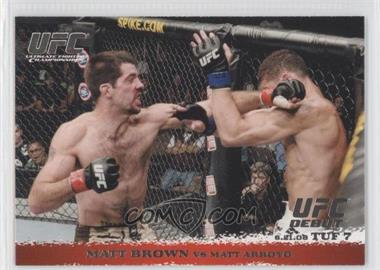 2009 Topps UFC Round 1 #86 - Matt Brown vs Matt Arroyo