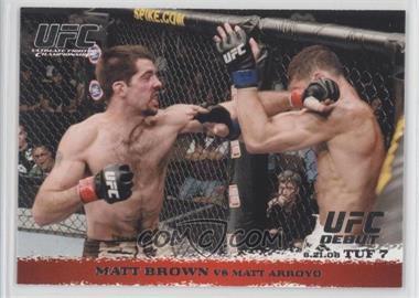 2009 Topps UFC Round 1 #86 - Matt Brown vs Matt Arroyo