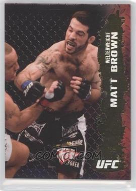 2009 Topps UFC Round 2 - [Base] - Gold #41 - Matt Brown