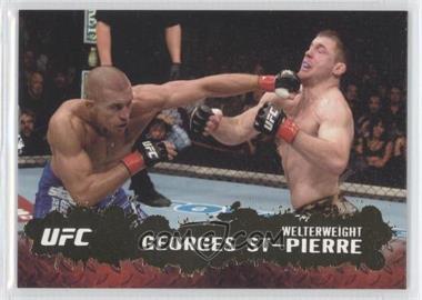 2009 Topps UFC Round 2 Gold #100 - Georges St-Pierre