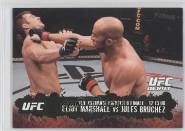 2009 Topps UFC Round 2 Gold #114 - Eliot Marshall vs Jules Bruchez