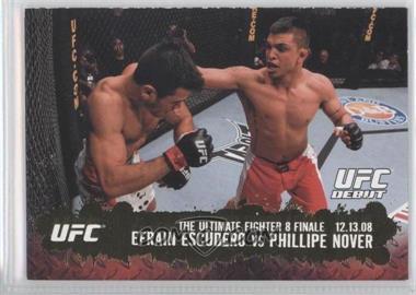 2009 Topps UFC Round 2 Gold #117 - Efrain Escudero vs Phillipe Nover