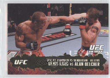 2009 Topps UFC Round 2 Gold #122 - Denis Kang vs Alan Belcher