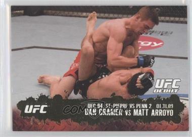 2009 Topps UFC Round 2 Gold #123 - Dan Cramer vs Matt Arroyo