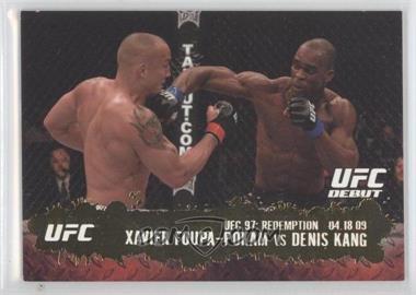 2009 Topps UFC Round 2 Gold #134 - Xavier Foupa-Pokam vs Denis Kang