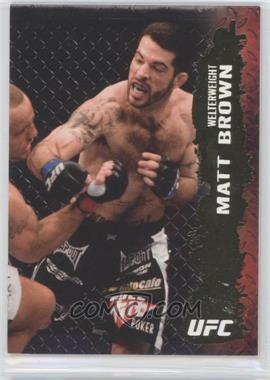 2009 Topps UFC Round 2 Gold #41 - Matt Brown