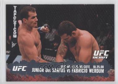 2009 Topps UFC Round 2 #108 - Junior Dos Santos, Fabricio Werdum