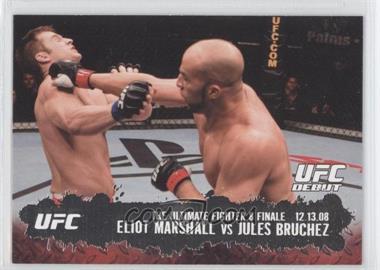 2009 Topps UFC Round 2 #114 - Eliot Marshall vs Jules Bruchez
