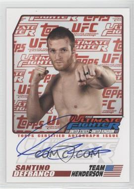 2009 Topps UFC The Ultimate Fighter Autographs #TUF-SD - Santino DeFranco