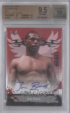 """2010 Leaf MMA [???] #AV-JJ1 - Jon """"Bones"""" Jones (Jon Jones) [BGS9.5]"""