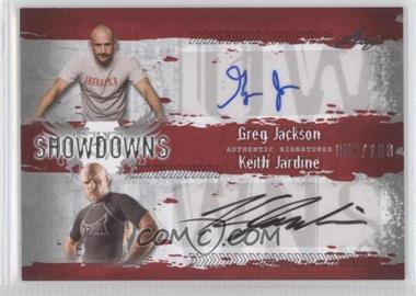 2010 Leaf MMA Showdowns Dual Autographs Red #GJ1/KJ1 - Greg Jackson, Keith Jardine /100