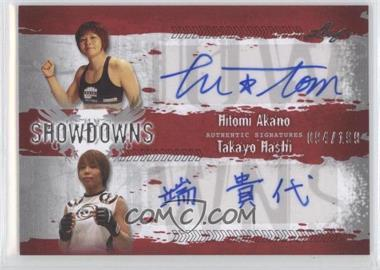 2010 Leaf MMA Showdowns Dual Autographs Red #HA1/TH1 - Hitomi Akano, Takayo Hashi /199