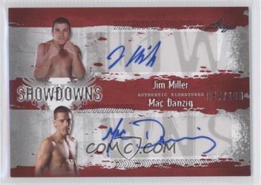 2010 Leaf MMA Showdowns Dual Autographs Red #JM1/MD1 - Jim Miller, Mac Danzig /100
