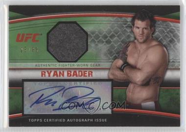 2010 Topps UFC Autographed Fighter Gear Relics Green #AFG-RB - Ryan Bader /88