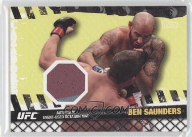2010 Topps UFC Fight Mat Relics #FM-BS - Ben Saunders