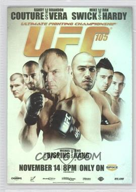 2010 Topps UFC Fight Poster Review #FPR-UFC105 - UFC105 (Randy Couture, Brandon Vera, Dan Hardy, Mike Swick, Michael Bisping, Denis Kang)