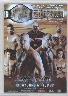 """2010 Topps UFC Fight Poster Review #FPR-UFC43 - UFC43 (Chuck Liddell, Randy Couture, Frank Mir, Ken Shamrock, David """"Tank"""" Abbott, Kimo Leopoldo, Vitor Belfort)"""