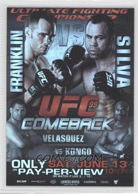 2010 Topps UFC Fight Poster Review #FPR-UFC99 - UFC99 (Rich Franklin, Wanderlei Silva, Cain Velasquez, Cheick Kongo)
