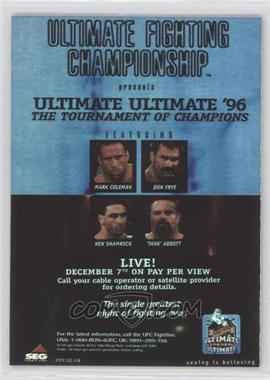 "2010 Topps UFC Fight Poster Review #FPR-UFCUU96 - Don Frye vs. ""Tank"" Abbott"