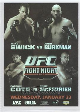 2010 Topps UFC Fight Poster Review #FPR-UFN12 - UFN12 (Mike Swick, Josh Burkman)