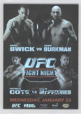 2010 Topps UFC Fight Poster Review #FPR-UFN12 - UFN12 (Mike Swick, Josh Burkman)