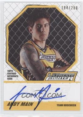 2010 Topps UFC Knockout - [???] #TUF-AM - Andy Main /200