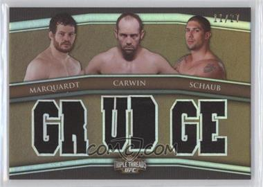 2010 Topps UFC Knockout - Triple Threads Combo Relics - Sepia #5 - Nate Marquardt, Shane Carwin, Brendan Schaub /27