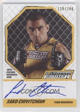 2010 Topps UFC Knockout [???] #TUF-SC - Sako Chivitchian /200