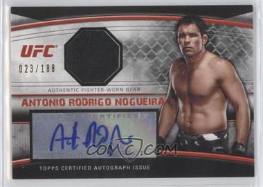 "2010 Topps UFC Knockout Autographed Fighter Gear Relic #AFG-AN - Antonio Rodrigo ""Minotauro"" Nogueira /188"