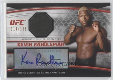 2010 Topps UFC Knockout Autographed Fighter Gear Relic #AFG-KR - Kevin Randleman /188