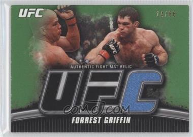 2010 Topps UFC Knockout Fight Mat Relic Green #FM-FG - Forrest Griffin /88