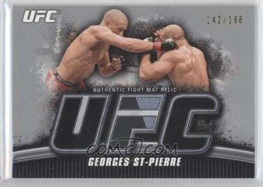 2010 Topps UFC Knockout Fight Mat Relic Silver #FM-GSP - Georges St-Pierre /188
