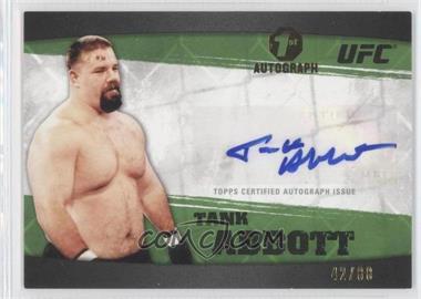 2010 Topps UFC Knockout Fighter Autographs Green #A-TA - David Abbott /88
