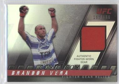 2010 Topps UFC Knockout Fighter Gear Relics #FG-BV - Brandon Vera /188