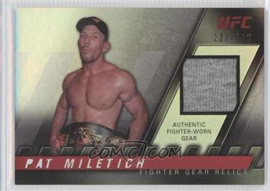 2010 Topps UFC Knockout Fighter Gear Relics #FG-PM - Pat Miletich /188
