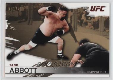 "2010 Topps UFC Knockout Gold #6 - David ""Tank"" Abbott /288"