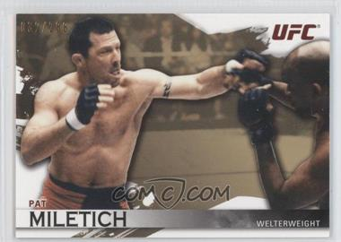 2010 Topps UFC Knockout Gold #7 - Pat Miletich /288