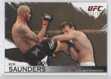 2010 Topps UFC Knockout Gold #99 - Ben Saunders /288