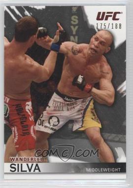 """2010 Topps UFC Knockout Silver #63 - Wanderlei """"The Axe Murderer"""" Silva (Wanderlei Silva) /188"""