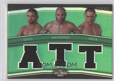 2010 Topps UFC Knockout Triple Threads Combo Relics Emerald #TTRC-1 - Thiago Alves, Ben Saunders, Thiago Silva /16