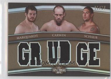 2010 Topps UFC Knockout Triple Threads Combo Relics Sepia #5 - Nate Marquardt, Shane Carwin, Brendan Schaub /27