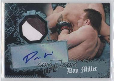 2010 Topps UFC Main Event Autographed Relic #8 - Dan Miller