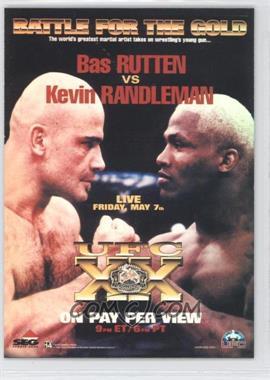 2010 Topps UFC Main Event Fight Poster Review #FPR-UFC20 - UFC20 (Bas Rutten, Kevin Randleman)