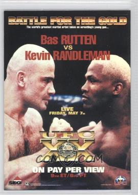 2010 Topps UFC Main Event Fight Poster Review #FPR-UFC20 - UFC20 (Bas Rutten, Kevin Randleman)