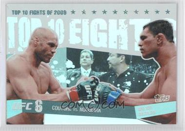 2010 Topps UFC Main Event Top 10 Fights of 2009 Black #TT09 16 - Randy Couture, Antonio Rodrigo Nogueira /88
