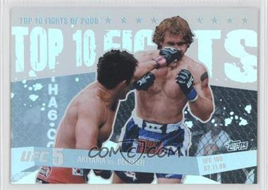 2010 Topps UFC Main Event Top 10 Fights of 2009 #TT09 13 - Akiyama vs. Belcher