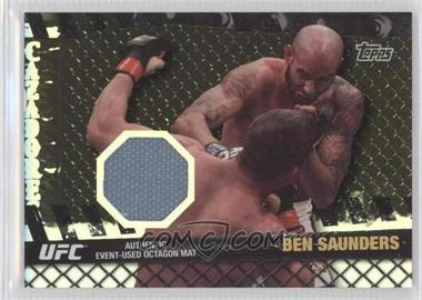 2010 Topps UFC Series 4 - Fight Mat Relics - Silver #FM-BS - Ben Saunders /88