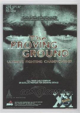 2010 Topps UFC Series 4 - Fight Poster Review #FPR-UFC11 - UFC11 (The Proving Ground)