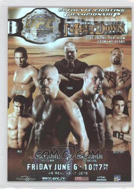 """2010 Topps UFC Series 4 - Fight Poster Review #FPR-UFC43 - UFC43 (Chuck Liddell, Randy Couture, Frank Mir, Ken Shamrock, David """"Tank"""" Abbott, Kimo Leopoldo, Vitor Belfort)"""